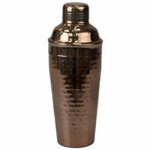 Steel Cocktail Martini/Drink Shaker Built-in Strainer Hammered Copper EBY63256