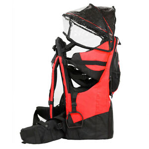 Deluxe Adjustable Baby Carrier Outdoor Light Hiking Child Backpack Camping Red