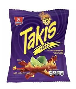 Takis Fuego 4 oz — (Pack of 320) Individually Sealed Bags  RARE EXOTIC SNACK💎✅