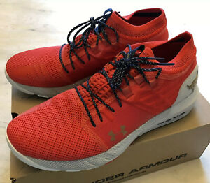 Under Armour Project Rock 2 HOVR Shoes Blood Orange Mens Size 10.5 (3022024-001)