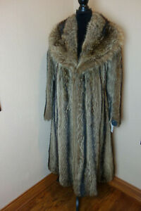 Vintage Small Raccoon Fur Swing Coat Jacket 4035s