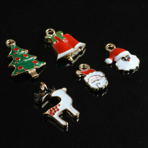 30pcs Mixed Xmas Charms Pendants for Bracelet Hair clips Jewelry Making
