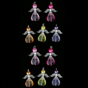 10 Party Angel Charms Pendants Earrings Jewelry Findings Hanging Ornaments