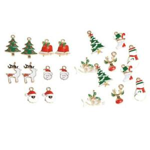20X Christmas Charms For Holiday Decoration Supply XMAS Jewelry DIY Crafts