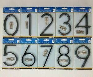 Hillman Distinctions 5 in. Black Floating of Flush House Numbers