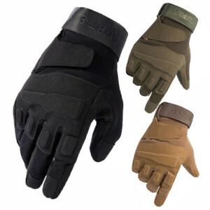 Tactical Full Finger Gloves Knuckles Men#x27;s Army Military Hunting Combat Airsoft $12.99