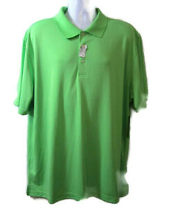2 Under Mens Golf Polo Shirt Sz XXL Green UPF 15 Sun Protection Short Sleeve NWT $19.59