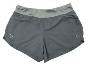 Avia Women's Active Charcoal Gray Running Shorts with Bike Liner Large (12-14)