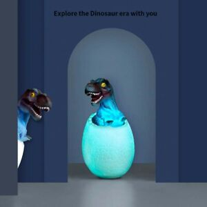 Environmentally Friendly Material 3D Dinosaur Night Light With Remote Control