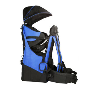 ClevrPlus Deluxe Baby Carrier Outdoor Light Hiking Child Backpack Camping Blue
