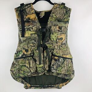 "MOSS OAK FIELDLINE Youth Hunting Vest With Detachable Seat Camouflage 14"" X 14"""