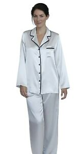 Womens Silk Satin Pajamas PJ Set Top and Bottom $19.50