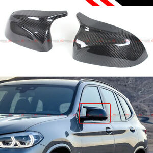 FOR 18 21 BMW X3 X4 X5 G01 G02 G05 M HORN CARBON FIBER REPLACEMENT MIRROR COVERS $139.99