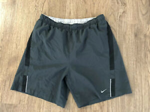 """Mens Nike 9"""" Running Shorts Size Large With Liner Side Stripe"""