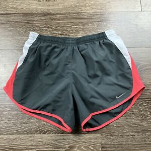 Nike Dri Fit Womens Athletic Running Shorts Size Small S Gray White Pink