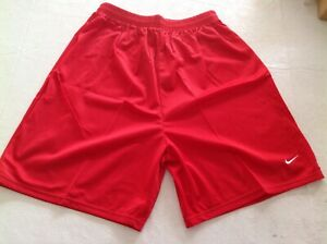 5 X NIKE RED WOMEN MEDIUM SCARLET RED LINED SHORTS ACTIVEWEAR RUNNING GYM SHORTS