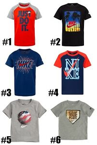 New Nike Boys Dri FIT Graphic Print Short Sleeves Shirt Choose Size and Color $10.50