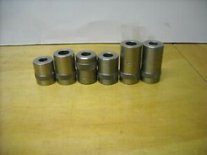 Lot of 6 Dillon Case Gage 380-40-44-45-357-9mm
