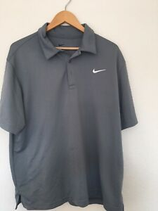 NIKE Golf Fit Dry Polo Grey  Mens XL Pre Owned  Free Shipping!