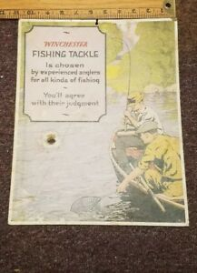 Cardboard Winchester Fishing Tackle Sign