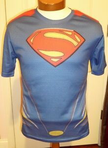 Superman CoolMax lined dry fit Shirt YOUTH L new with tags $9.50