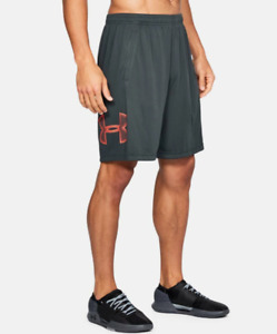 Under Armour Shorts Mens 3XL Authentic UA Tech Graphic 10 Inch New Anthracite