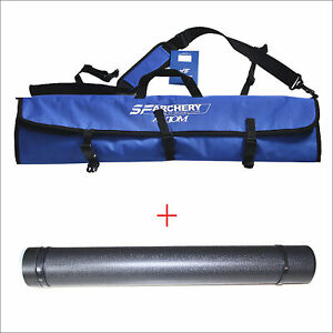Archery Takedown Recurve Bow Bag Case + Arrow Quiver Holder Hunting Target