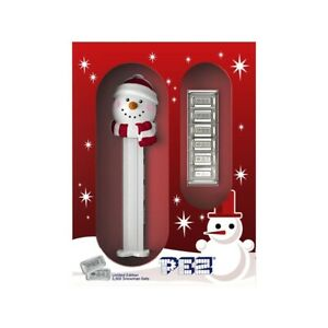 Sale Price - 30 gram PAMP Suisse Snowman PEZ Dispenser & Silver Wafers