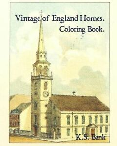 Vintage Of England Homes Coloring Book $11.17