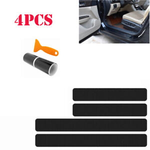 2019 NEW !!Accessories Carbon Fiber Car Door Sill Scuff Anti Scratch Sticker
