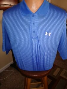 Mens under armour golf polo shirts large $15.00
