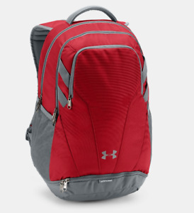 Under Armour Backpack Red Authentic Hustle 3.0 UA Storm Team New Water Resistant