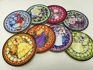 A set of 8 Kingdom Hearts Stained glass Sora and Princess Neoprene Coasters $27.99