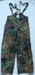 Green Camo German Military Issue Cargo Tactical Pants Hunting Bib - Size 38X31