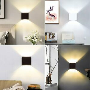 Modern LED COB Wall Light Waterproof Exterior Up Down Cube Sconce Lamp Fixture