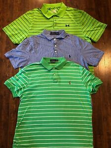 Mens XL Polo Shirt Lot Of 3 - Under Armor And Ralph Lauren Polo Excellent‼️