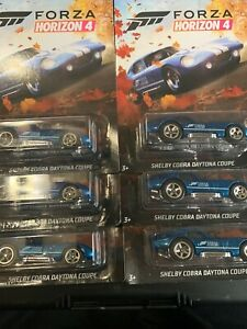 Hot Wheels 2019 Forza Horizon 4 =  LOT OF 6= SHELBY COBRA DAYTONA COUPE