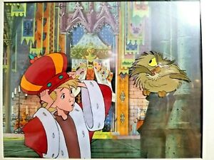 1963 RARE DISNEY SWORD IN THE STONE WART KING ARTHUR ORIGINAL PRODUCTION CEL