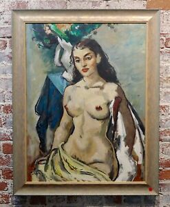 Benjamin Albert Stahl Portrait of a Nude Woman Oil painting $4600.00
