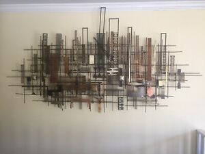 WILLIAM BOWIE signed Mid-century Modern metal Art Wall Sculpture-Extra Large