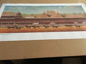 CARR DE NASKRA Victorious in 1984 TRAVERS  by JENNESS CORTEZ Signed Lithograph