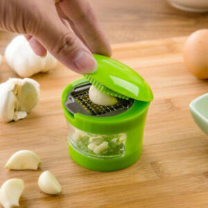 Manual Garlic Press Ginger Carrot Crusher Grinder Mincer Easy to Clean Green