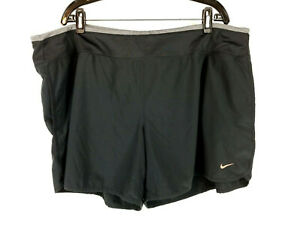 Nike Dri-Fit Black Running Athletic Shorts Lined Womens Plus Size 2X