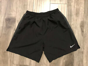 Nike Running Dri Fit Mens Shorts Sz L Black With Liner