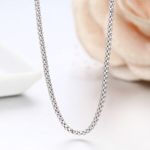 Handmade Solid 925 Sterling Silver Balinese Popcorn Coreana Chain Necklace Bali $13.99