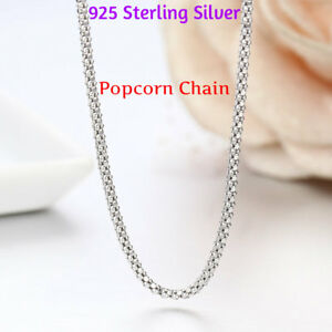 REAL Classic 925 Sterling Silver Chain Necklace SOLID SILVER 925 Jewelry Italy $4.99
