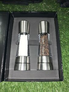 COLE & MASON Derwent Salt and Pepper Grinder Set - Stainless Steel Mills Include