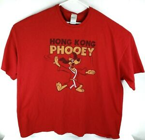 Hanna Barbera Hong Kong Phooey Distressed Phooey Chopping Under Logo Size 5XL $15.96