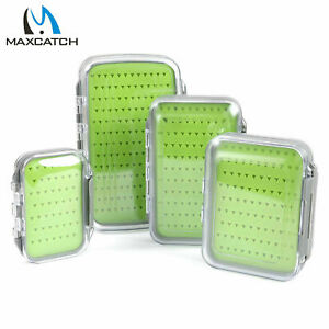 Maxcatch Fly Fishing Box Easy grip Silicone Insert Tackle Jig Boxes Double Side