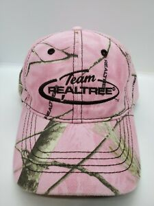 Pink Camouflage Team Realtree Strapback Hat Cap